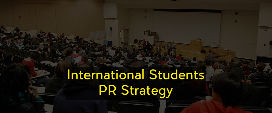 international students pr strategy